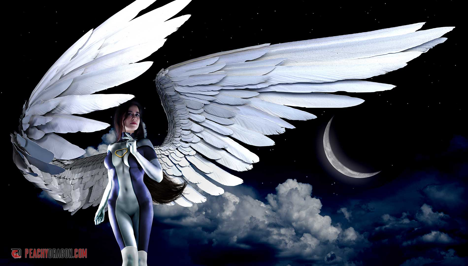 Fantasy winged photograph - Archangel
