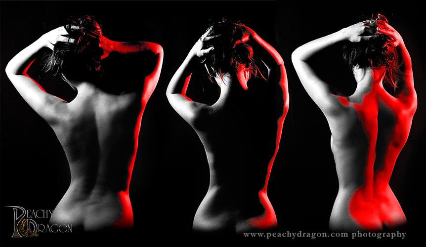 Bodyscape photo of model's back