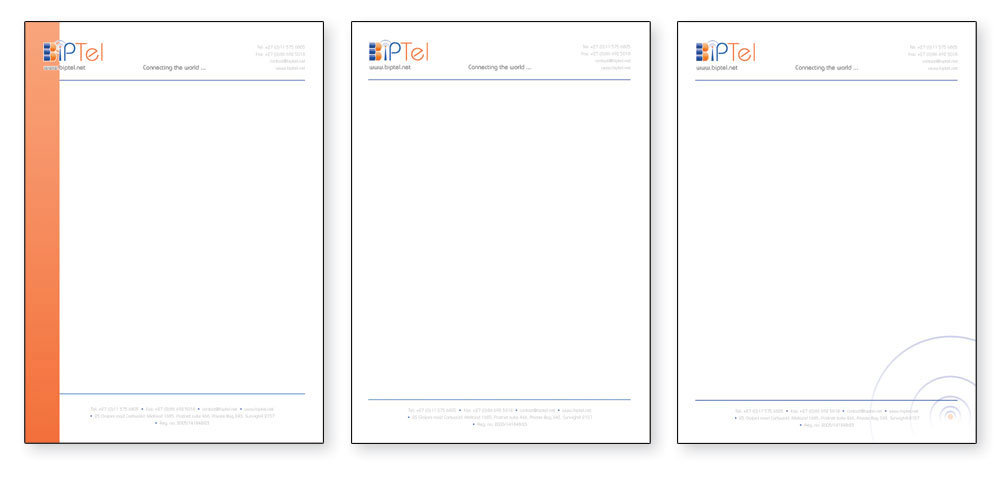 Corporate identity Design Letterhead design