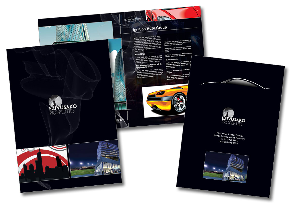 Sales brochure layout and design