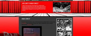 Website design - Ninja Comics