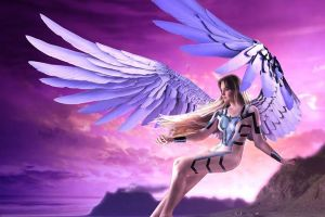 Fantasy Archangel Gender-bend photograph